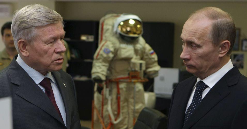 Putin no centro de treinamento para astronautas