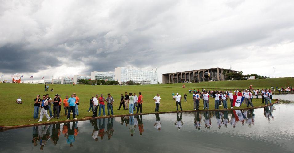 Protesto de policiais e bombeiros em Brasília