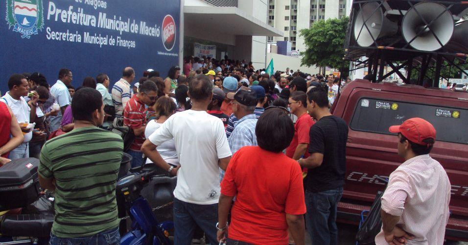 Protesto de servidores públicos em Maceió