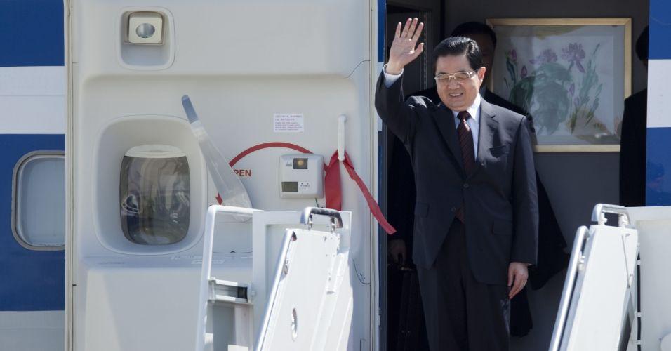 Presidente da China chega aos EUA