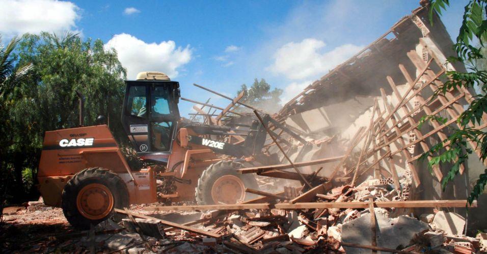 Demolição de casas em SP