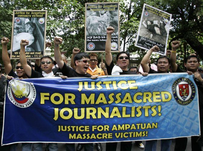 Protesto em Manila