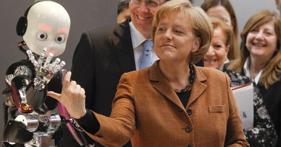Merkel e o robô