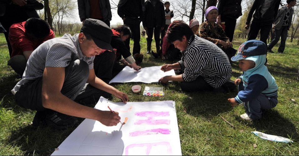 Protesto no Quirguistão