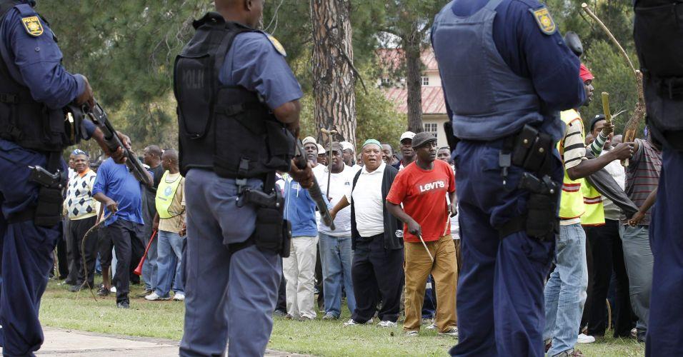 Manifestação na África