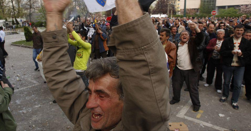Protesto na Bósnia