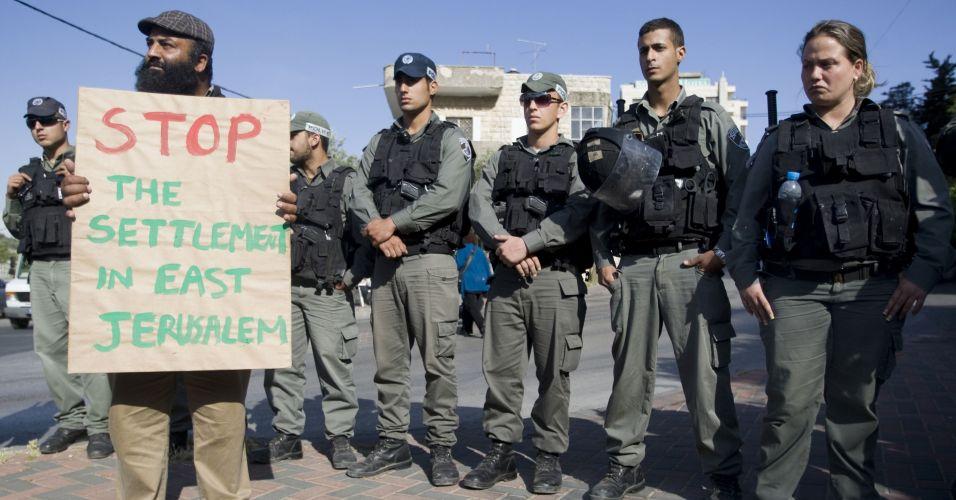 Protesto contra assentamentos judeus