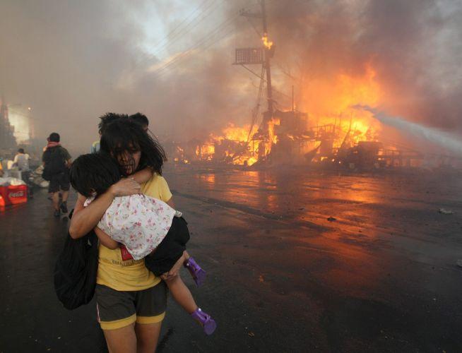 Incêndio nas Filipinas