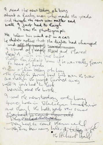 Manuscrito de Lennon leiloado