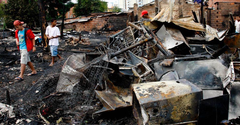 Incêndio em favela de SP