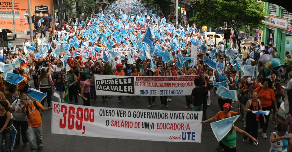 Protesto em MG