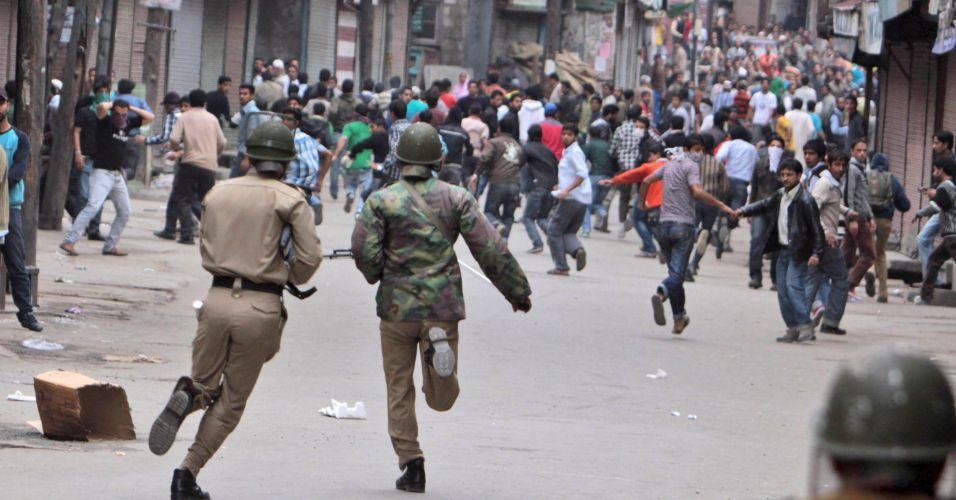 Manifestação na Caxemira