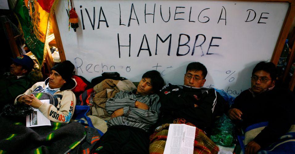 Greve de fome na Bolívia