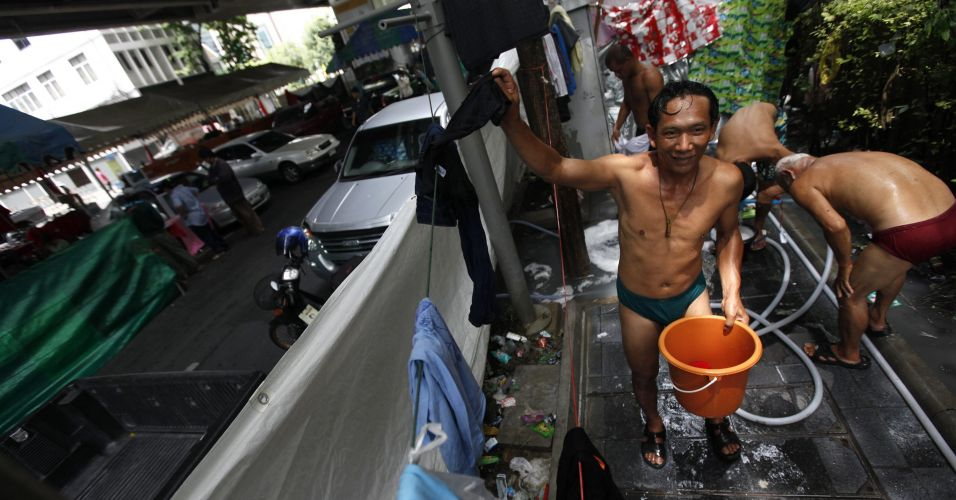 Banho no centro de Bancoc