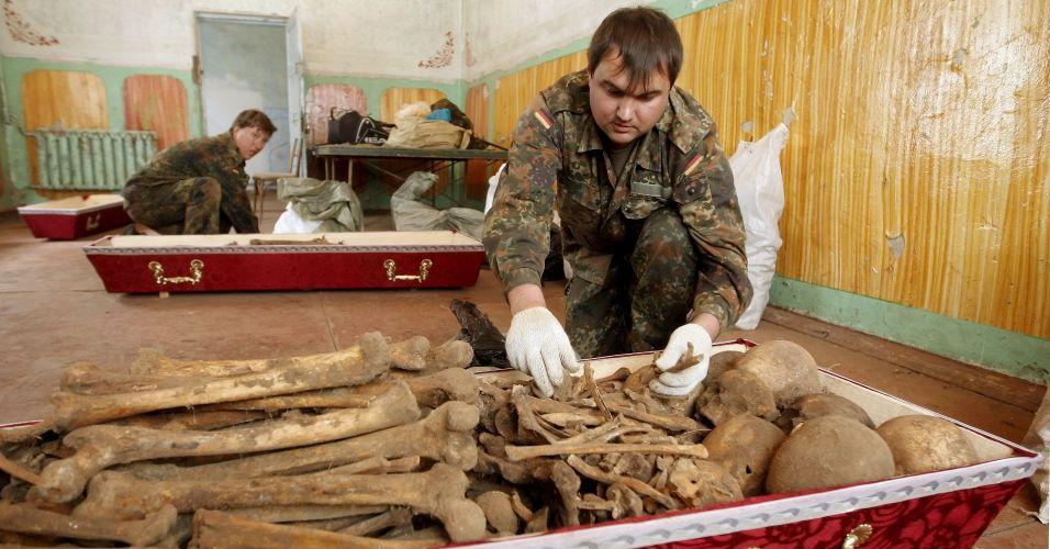 Restos mortais na Ucrânia
