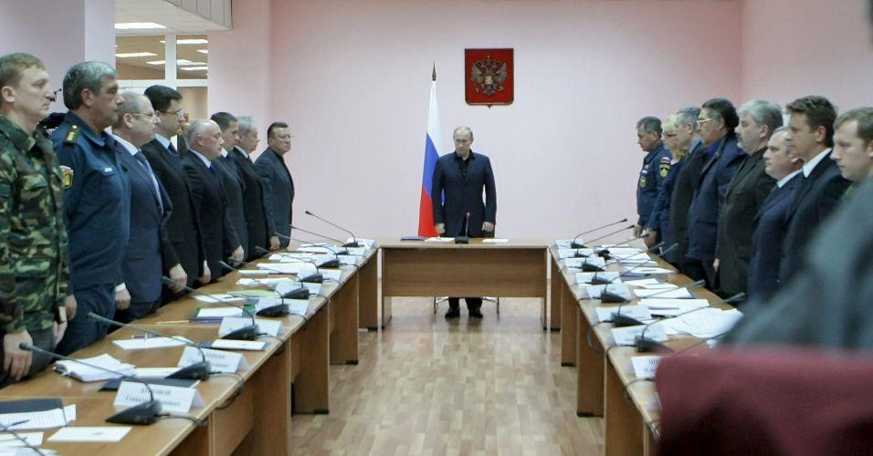 Putin em reunião sobre mina