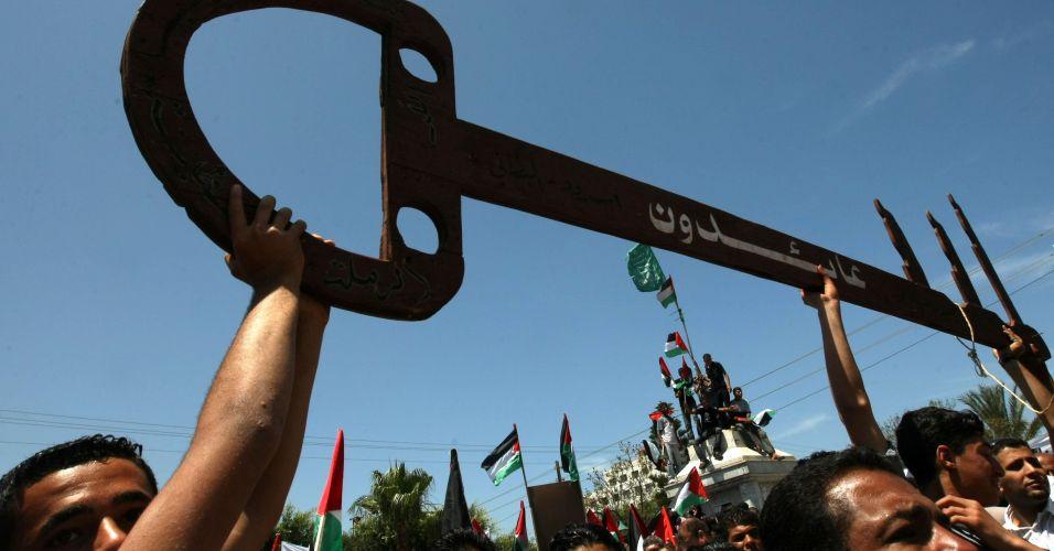 Comício em Gaza