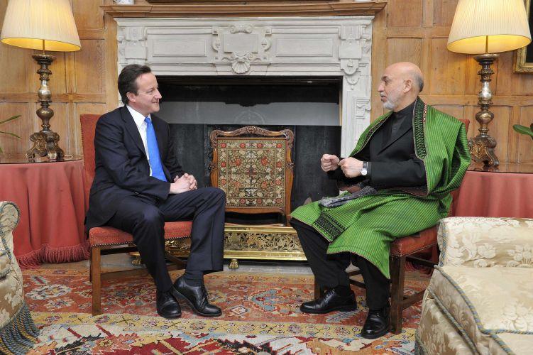 Karzai e Cameron