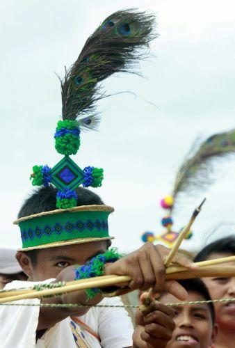 Indígenas fazem festa na Colômbia