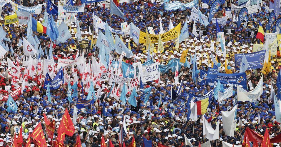 Protestos na Romênia