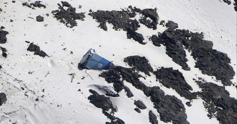 Cauda de avião que caiu no Afeganistão