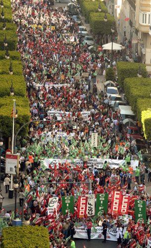Manifestação na Espanha