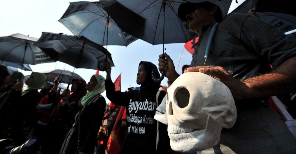 Protesto em Jacarta