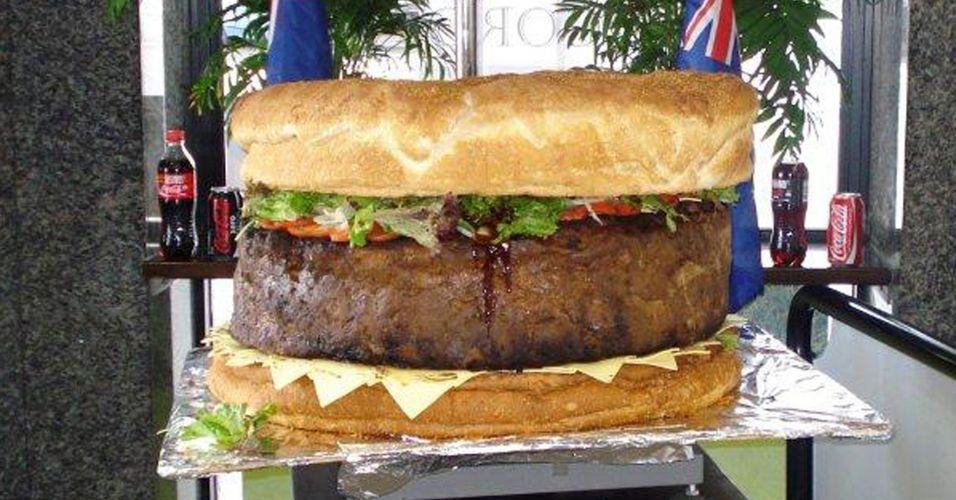 Hambúrguer gigante na Austrália