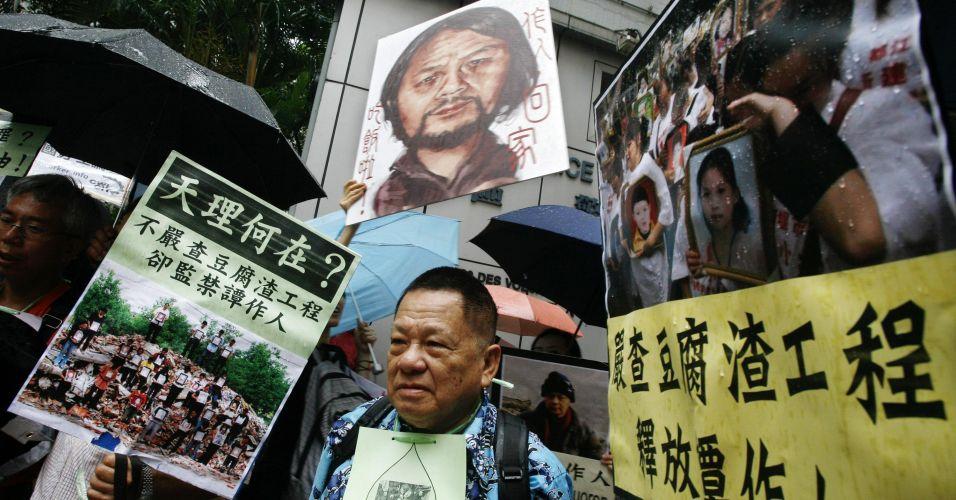 Protesto na China