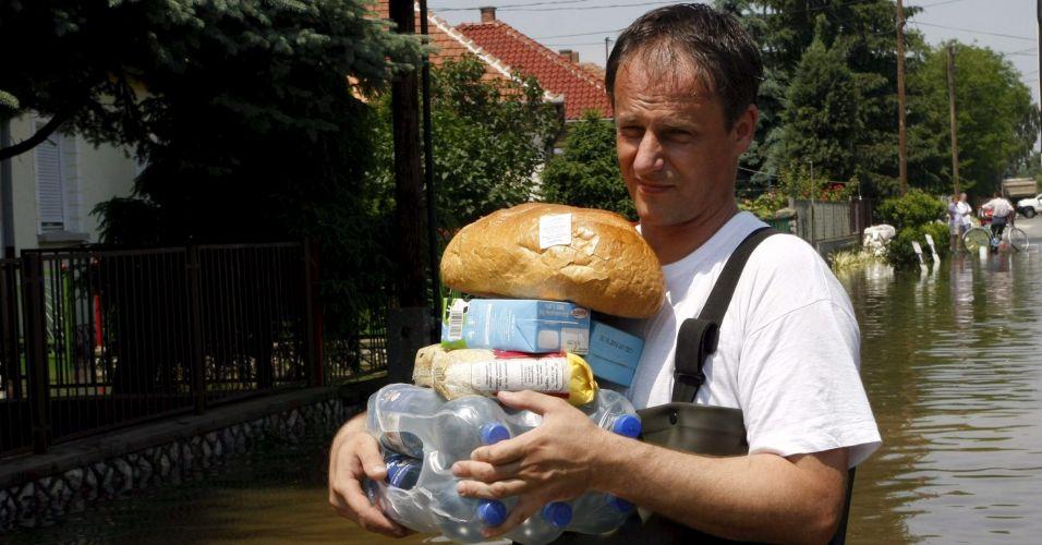 Enchente na Hungria