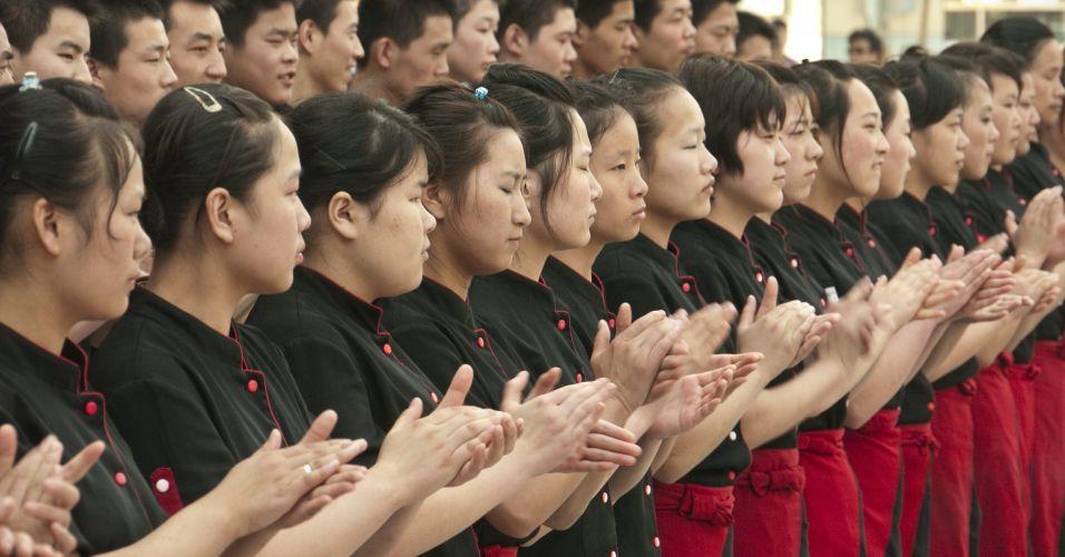 Treino na China