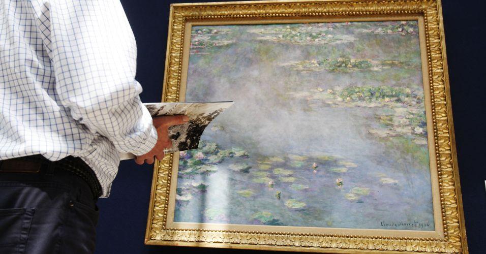 Quadro de Monet vai a leilão