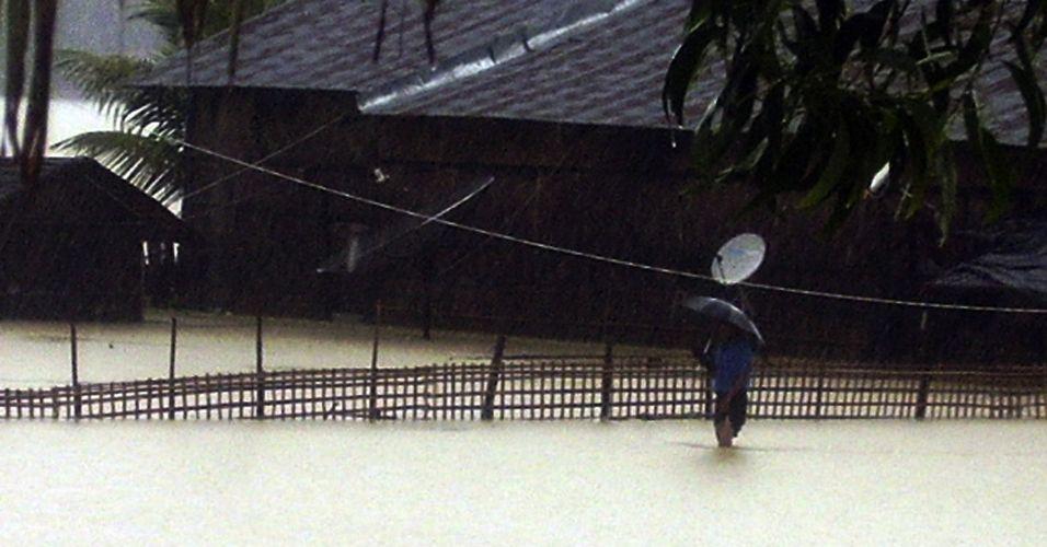 Chuva em Mianmar