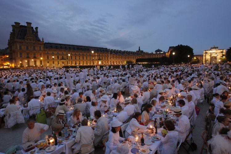 Jantar branco na França