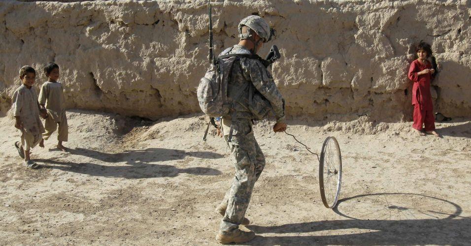 Brincadeira no Afeganistão