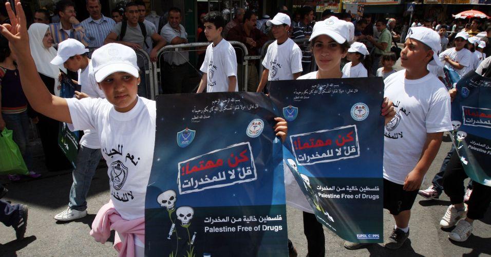 Campanha contra as drogas na Cisjordânia