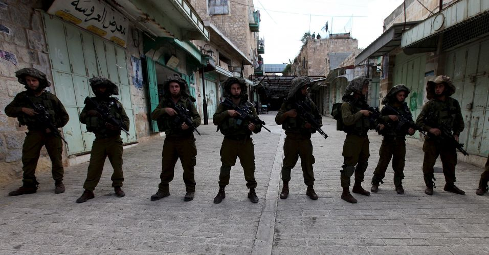 Soldados israelenses patrulhando