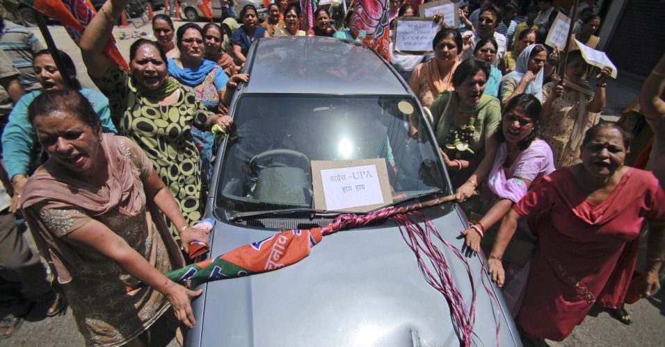 Protesto contra aumento na Índia