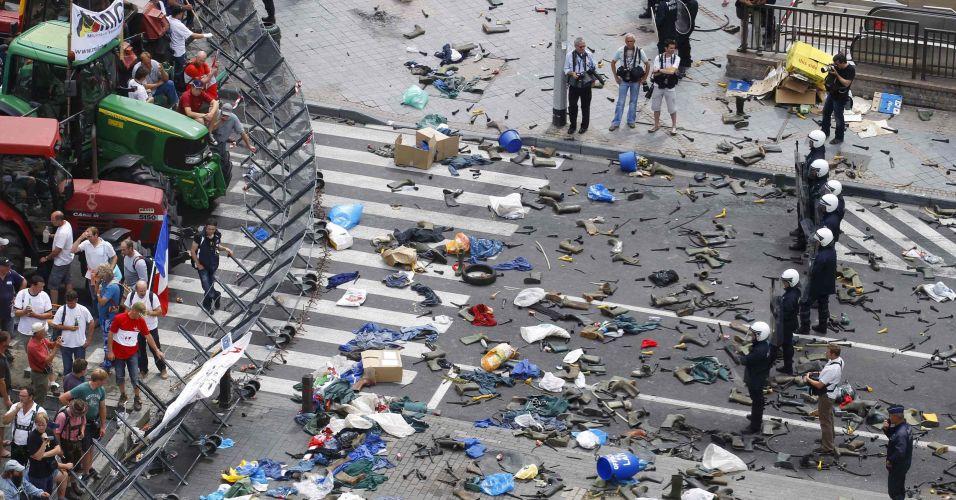 Protesto na Bélgic
