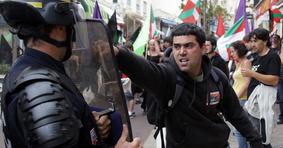 Bascos protestam na França