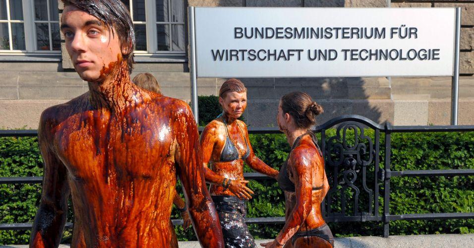 Protesto contra exploração de petróleo
