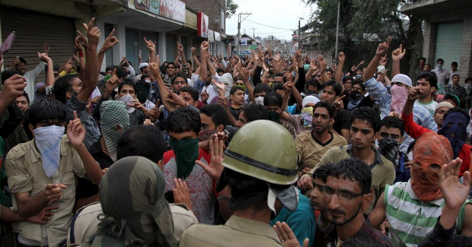 Manifestação na Caxemira indiana