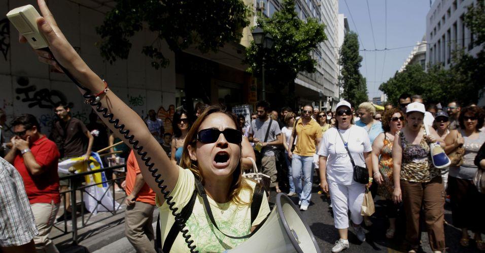 Protesto na Grécia
