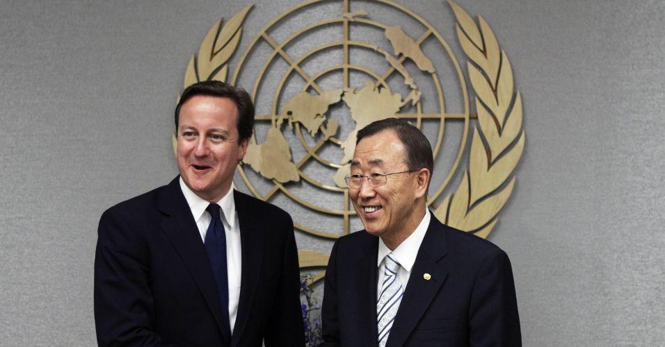 Cameron e Ban Ki-moon