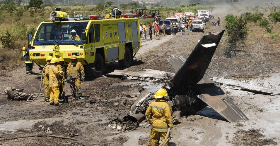 Avião cai na Venezuela