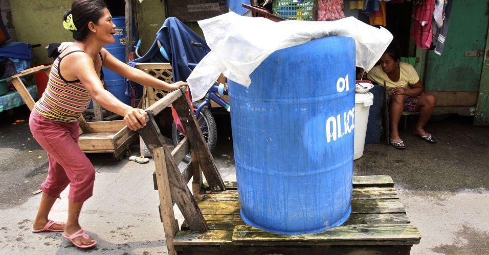 Falta de água nas Filipinas