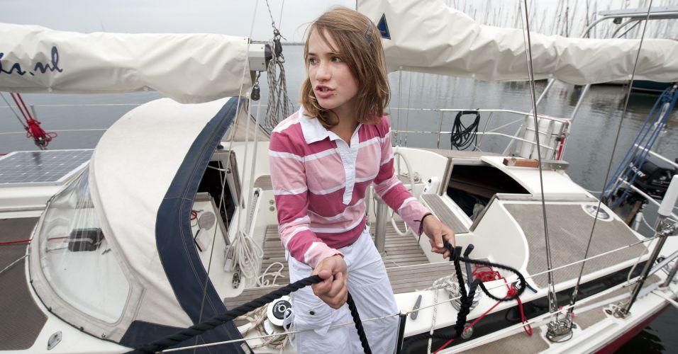 Jovem velejadora