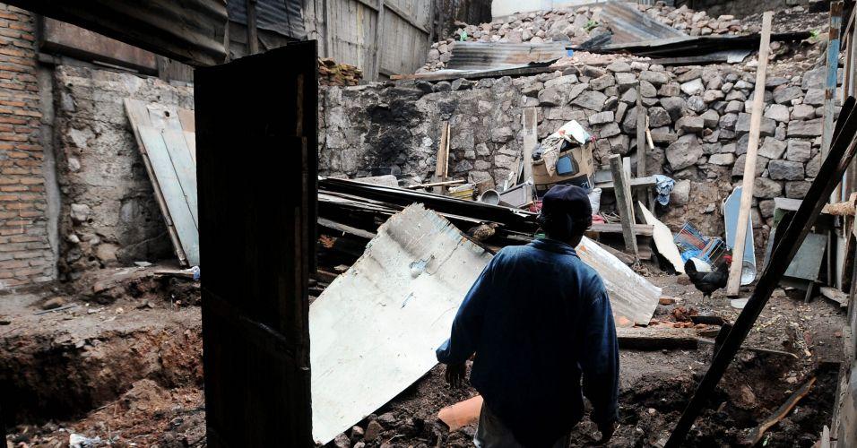 Destruição em Honduras