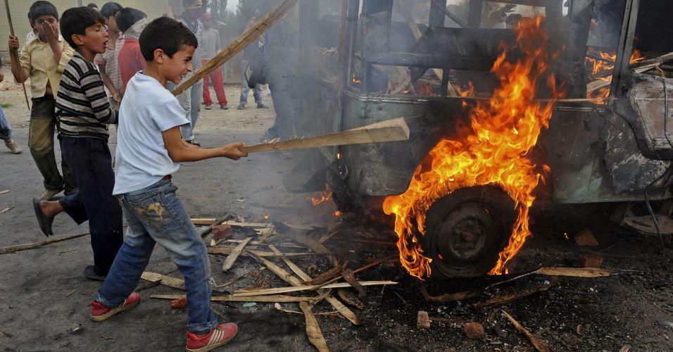 Protestos na Caxemira