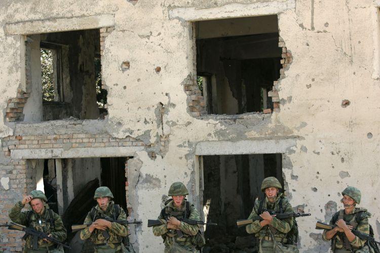 Soldados russos na Geórgia